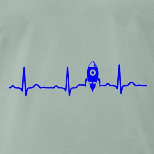 EKG HERZSCHLAG MOND MOON - Kryptowährung Blue - Männer Premium T-Shirt