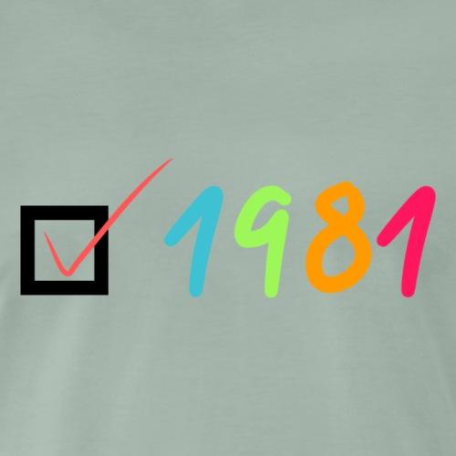 1981 - Camiseta premium hombre