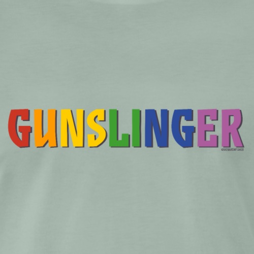 Gunslinger Pride (Rainbow) - Men's Premium T-Shirt