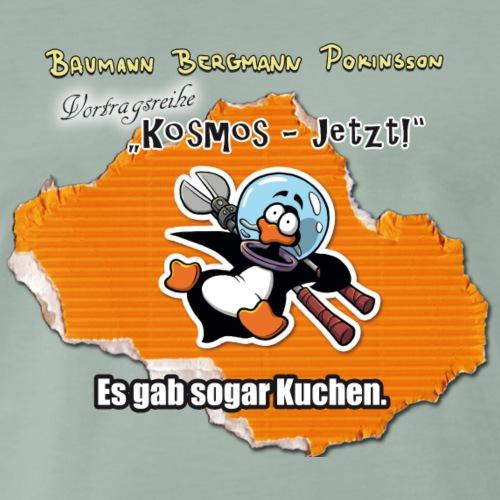 Vortragsreihe Kosmos - jetzt! Pinguin-Motiv - Männer Premium T-Shirt