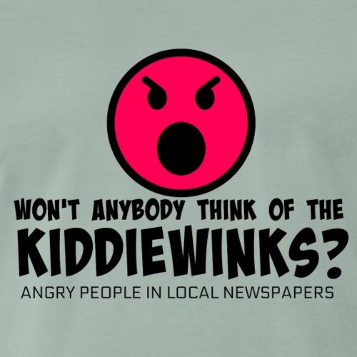 Won't anybody think of the kiddiewinks? - Men's Premium T-Shirt