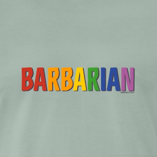 Barbarian Pride (Rainbow) - Men's Premium T-Shirt