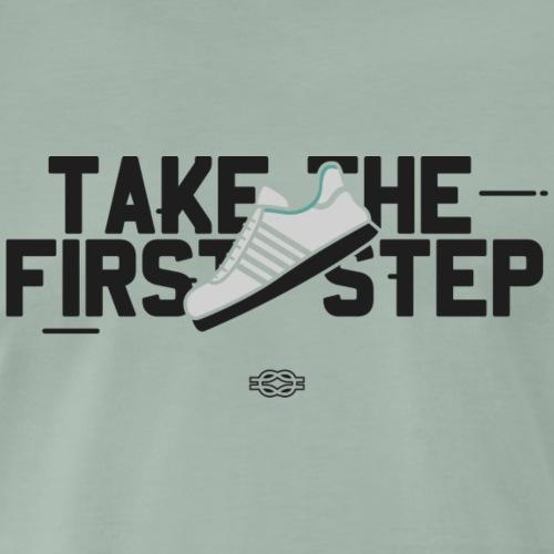 Take the 1st Step (Schwarz) - Männer Premium T-Shirt
