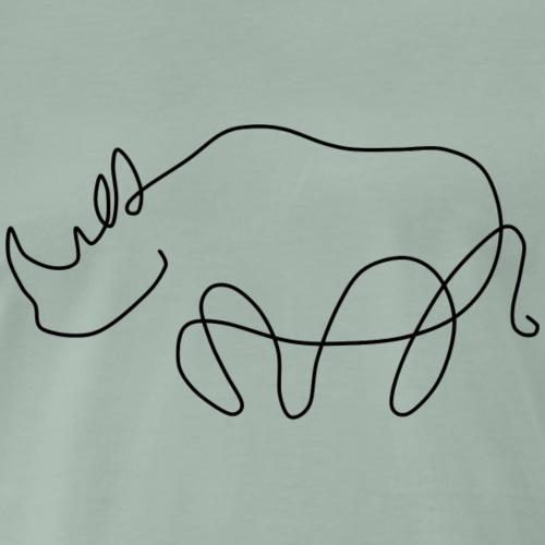 Nashorn - Männer Premium T-Shirt