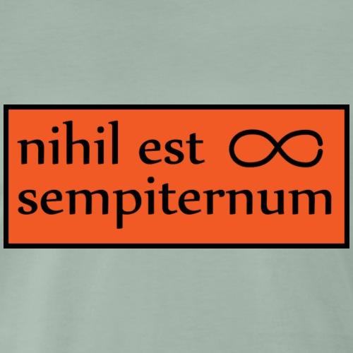 nihil est sempiternum - Premium-T-shirt herr