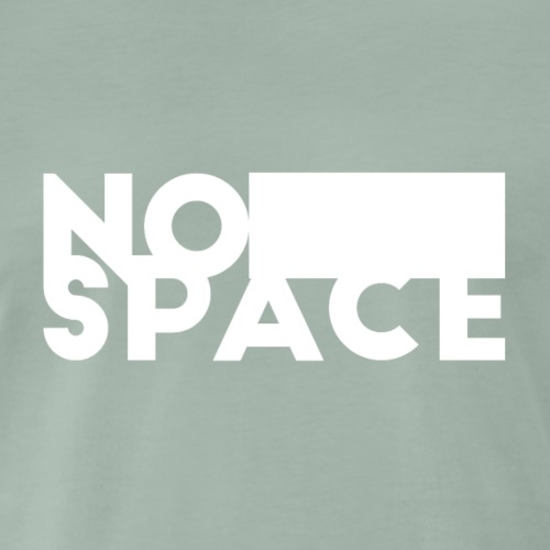 NO SPACE (white) - Männer Premium T-Shirt