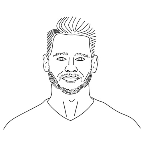 Clemens mit Bart - Männer Premium T-Shirt