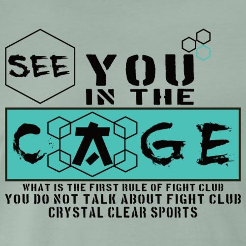 Cage Fighter - Männer Premium T-Shirt