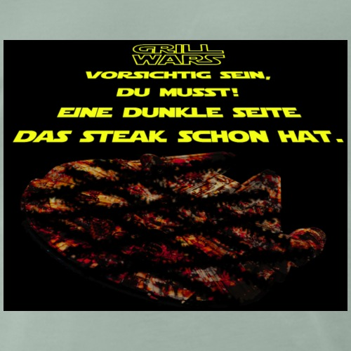 Grill Wars schwarz (für helle Untergründe) - Männer Premium T-Shirt