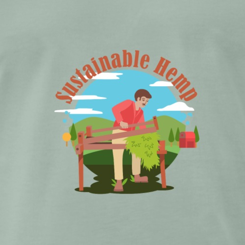 Cáñamo Sustentable en Inglés (Sustainable Hemp) - Camiseta premium hombre