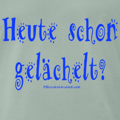 Heute schon gelaechelt blau - Männer Premium T-Shirt