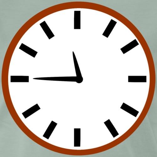 Rocket Clock - Premium T-skjorte for menn
