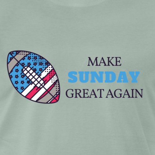 Make Sunday Great Again BLAU - Männer Premium T-Shirt