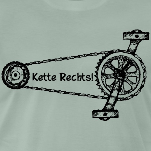 Kette Rechts - Männer Premium T-Shirt