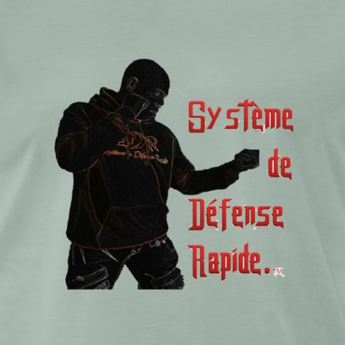 S.D.R Logo avec texte - T-shirt Premium Homme