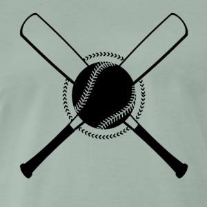 Baseball Crossed - Men's Premium T-Shirt