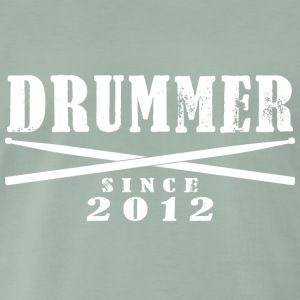 Schlagzeuger T-Shirt - Drummer Since 2012 - Männer Premium T-Shirt