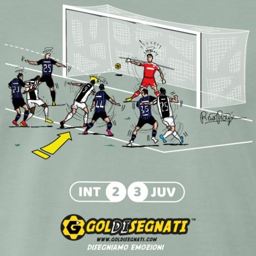INT-JUV 2-3 Il Gol allo scadere - Maglietta Premium da uomo