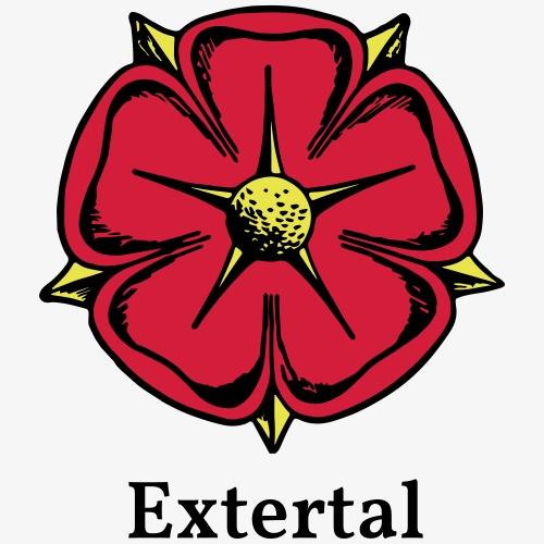 Lippische Rose mit Unterschrift Extertal - Männer Premium T-Shirt