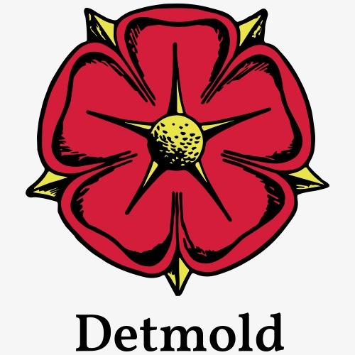 Lippische Rose mit Unterschrift Detmold - Männer Premium T-Shirt