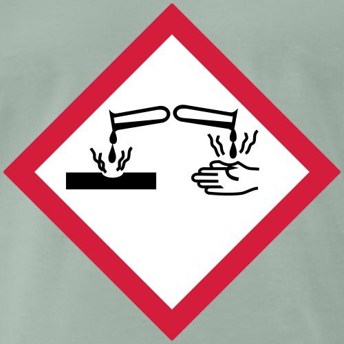 Warnung Säure ätzend (Farben anpassbar!) - Männer Premium T-Shirt