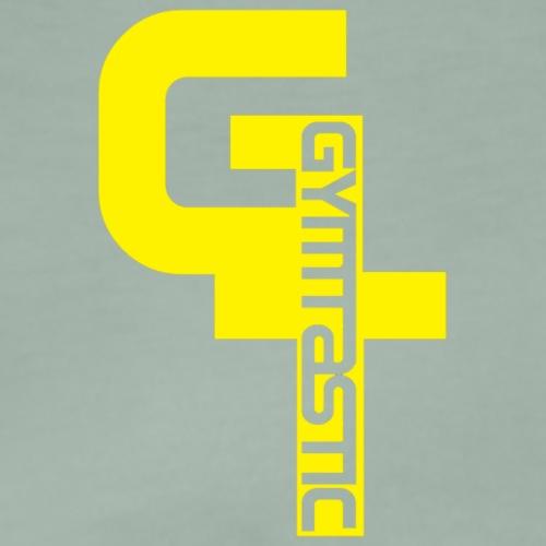 GT - Gymtastic - vertikal - gelb - Brust rechts - Männer Premium T-Shirt