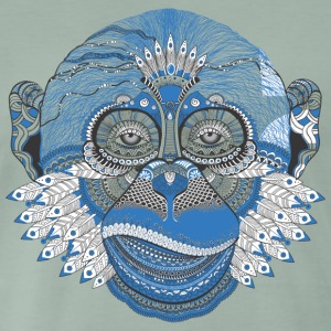 Monkey monkey skull monkey head Indian Style - Men's Premium T-Shirt