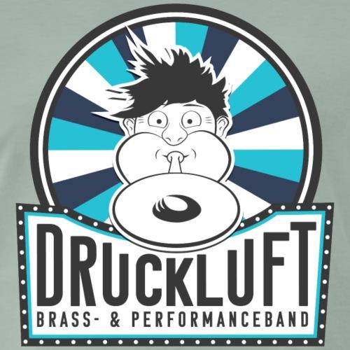Druckluft Logo Blau - Männer Premium T-Shirt