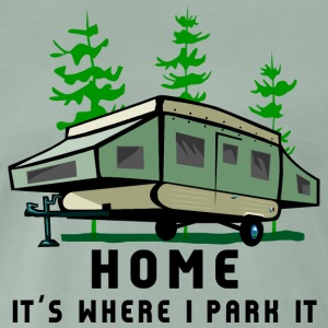 Camping Home Is Where You Park It - Men's Premium T-Shirt