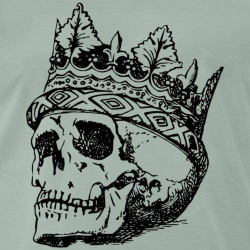 Totenkopf mit Krone - Männer Premium T-Shirt