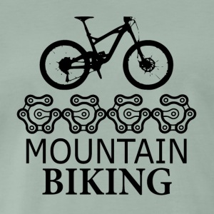 Mountain Biking Gears - liefde voor mountainbiken - Mannen Premium T-shirt