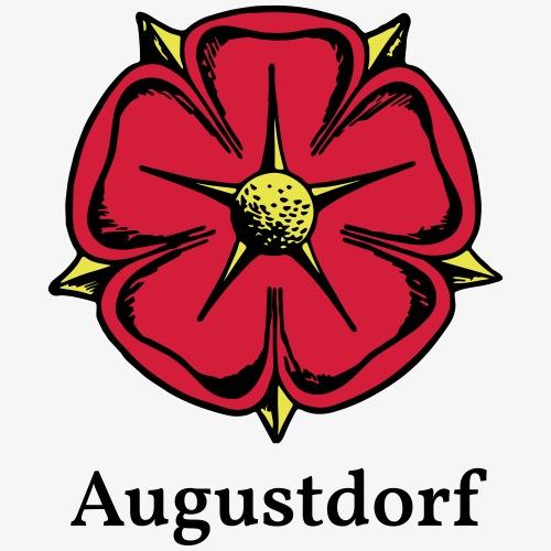 Lippische Rose mit Unterschrift Augustdorf - Männer Premium T-Shirt