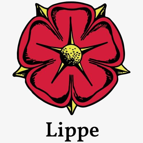 Lippische Rose mit Unterschrift Lippe - Männer Premium T-Shirt