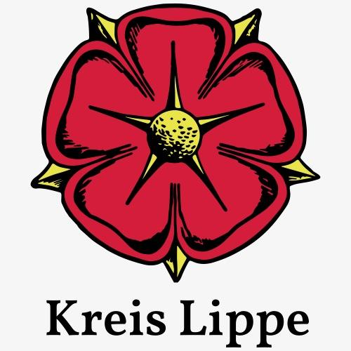 Lippische Rose mit Unterschrift Kreis Lippe - Männer Premium T-Shirt