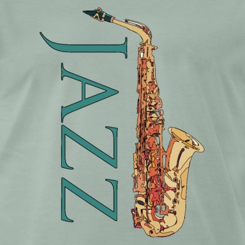Jazz Saxophon - Männer Premium T-Shirt