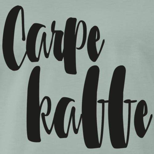 Carpe kaffe - Premium-T-shirt herr
