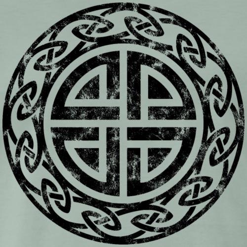 Vintage Schild Knoten Thor Zeichen Formen Symbole - Männer Premium T-Shirt
