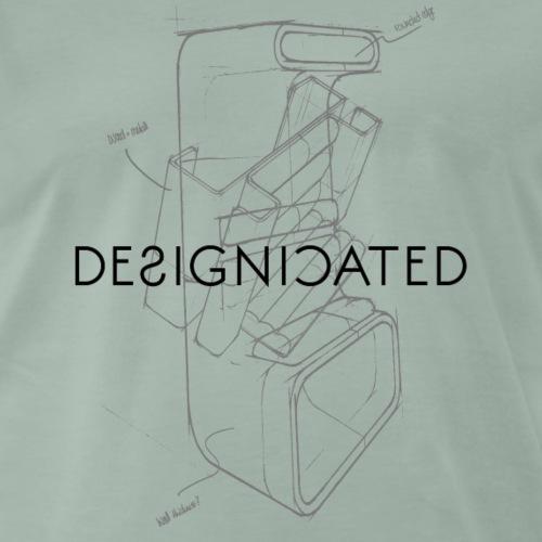 Designicated black - Männer Premium T-Shirt