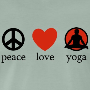 Peace Love Yoga - Premium T-skjorte for menn