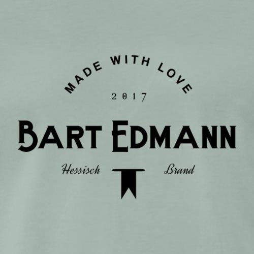 Bart Edmann Logo Hessisch Brand Schwarz - Männer Premium T-Shirt