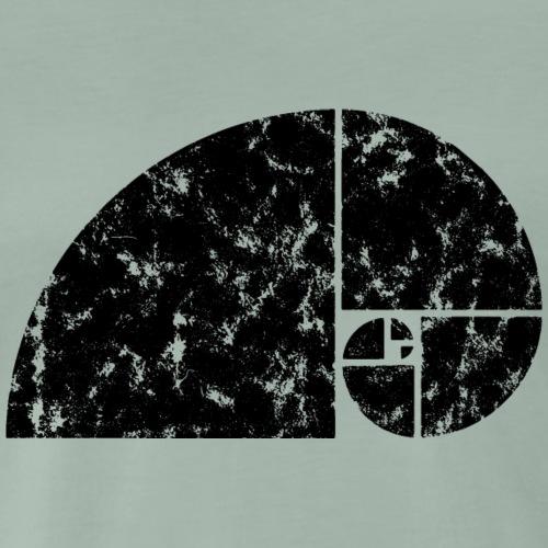 Vintage Fibonacci Spirale Mathe Geometrie Zeichen - Männer Premium T-Shirt