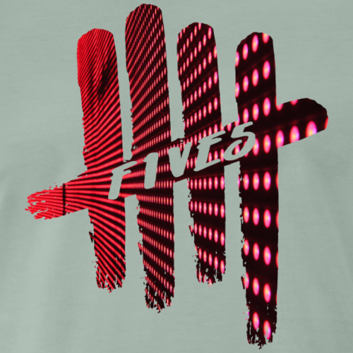 FIVES pink lights - T-shirt Premium Homme