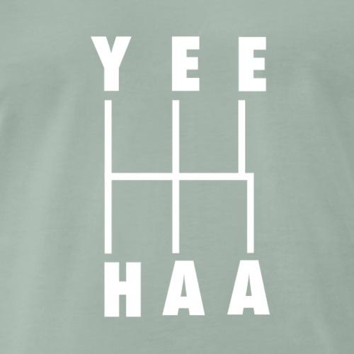 yeehaa! Handschaltung Gear Shift Schema weiß - Männer Premium T-Shirt