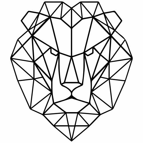 Tête de lion - T-shirt Premium Homme