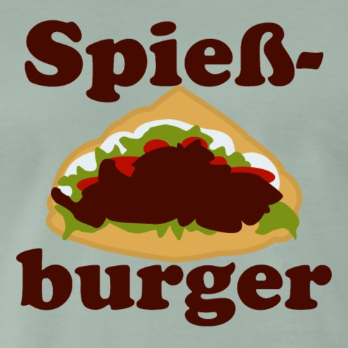 Spieß Burger - Männer Premium T-Shirt