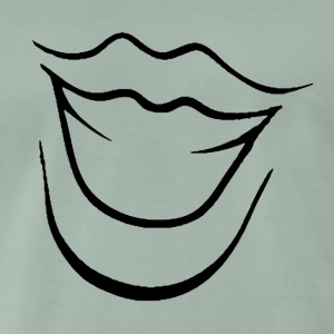Laughing Mouth - Herre premium T-shirt