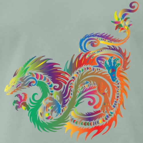 Bunter Drache - Männer Premium T-Shirt