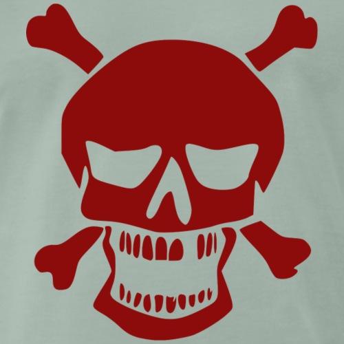 Totenkopf mit Knochen - Männer Premium T-Shirt
