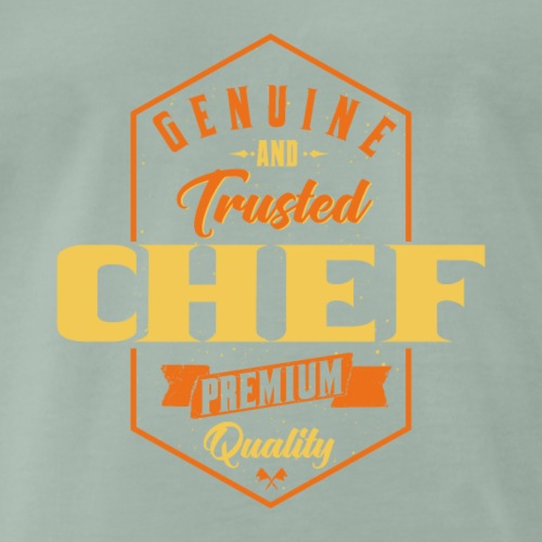 Genuine and trusted Chef - Männer Premium T-Shirt