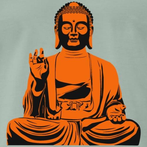 Buddha Statue bzw. Skulptur in orange / schwarz - Männer Premium T-Shirt